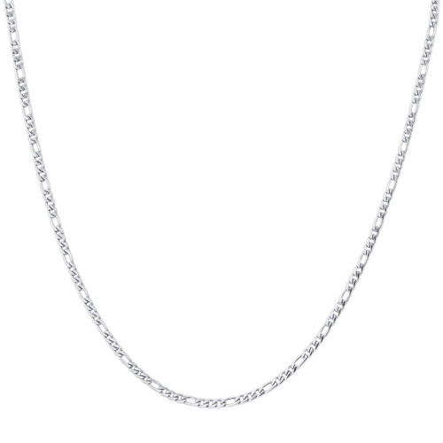 Stainless Steel Figaro Chain Necklace