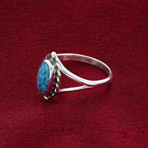 Blue Turquoise Ring