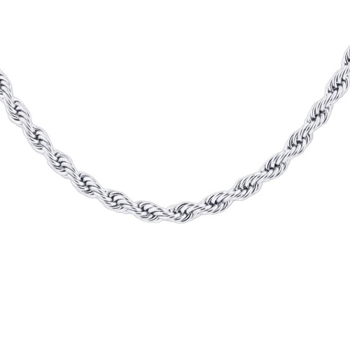 Men's Stainless Steel 4mm Rope Chain Necklace