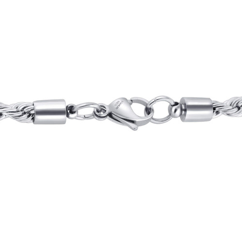 Stainless Steel 5mm Rope Chain Necklace