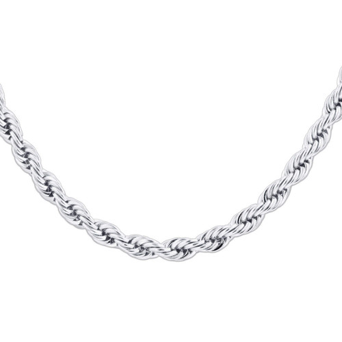 Men's Stainless Steel 6mm Rope Chain Necklace