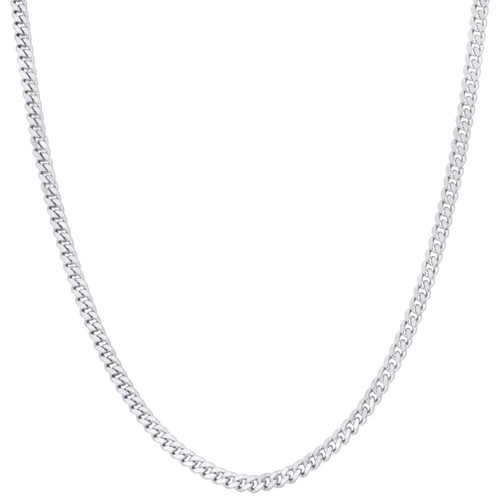 Stainless Steel 4mm Curb Chain Necklace