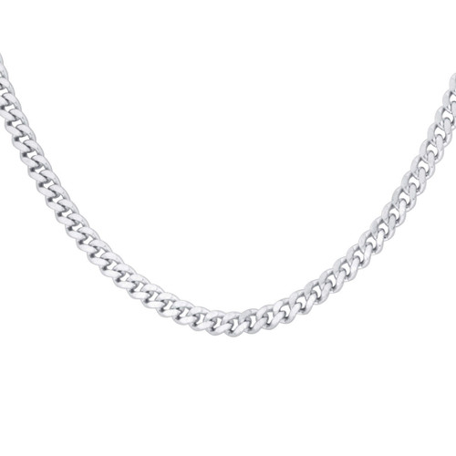 Men's Stainless Steel 3.5mm Curb Chain Necklace