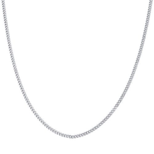 Stainless Steel 2.3mm Curb Chain Necklace