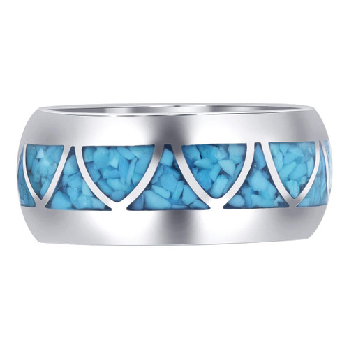 Sterling Silver Turquoise Band Ring