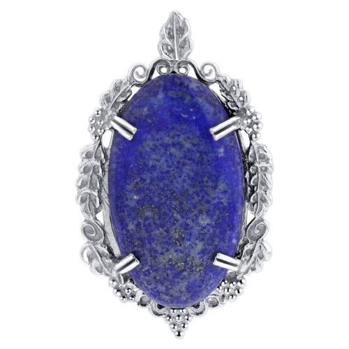 Blue Lapis Lazuli Pendant in Sterling Silver
