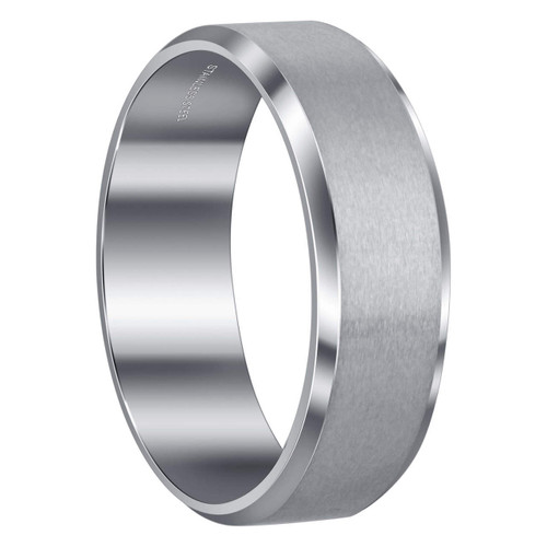 Brushed Design Comfort Fit Polished Inner Band