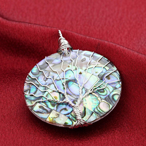 Abalone Shell Tree of Life Pendant