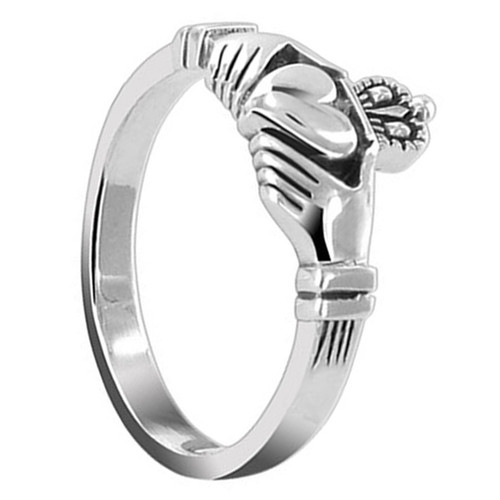 Sterling Silver Friendship and Love Irish Claddagh Heart Promise Ring