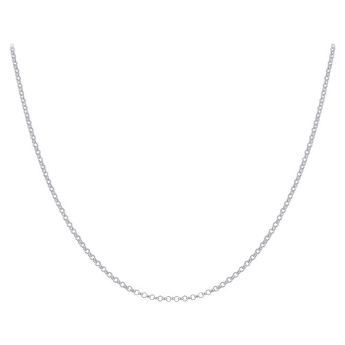 Sterling Silver 2.5mm Rolo Chain Necklace with Lobster Clasp