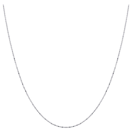 New Style Sterling Silver Rhodium Plated Chain Necklace with Spring Ring Clasp