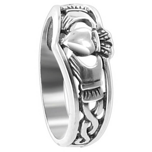 Sterling Silver Irish Claddagh Ring #LWRS198