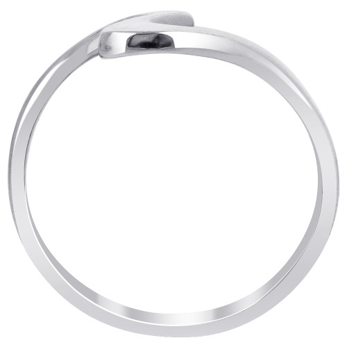 925 Sterling Silver Polished Finish 23mm Curvy Front Ring