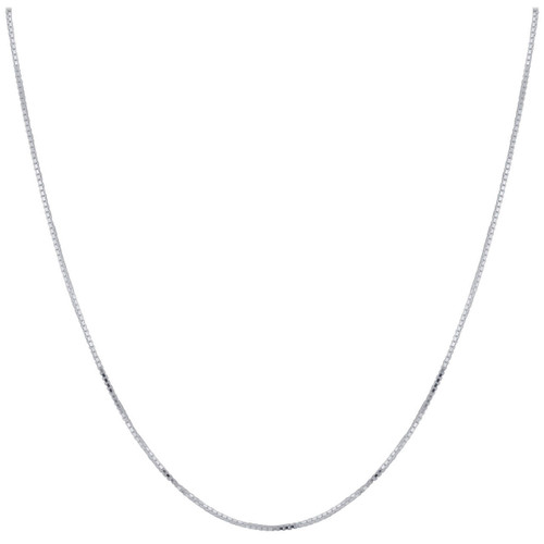 Sterling Silver 1.25mm Box Chain Necklace with Lobster Clasp