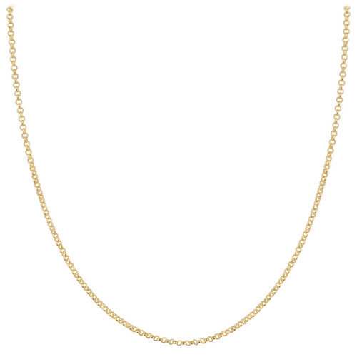 Sterling Silver Vermeil 1.5mm Rolo Chain Necklace with Lobster Clasp