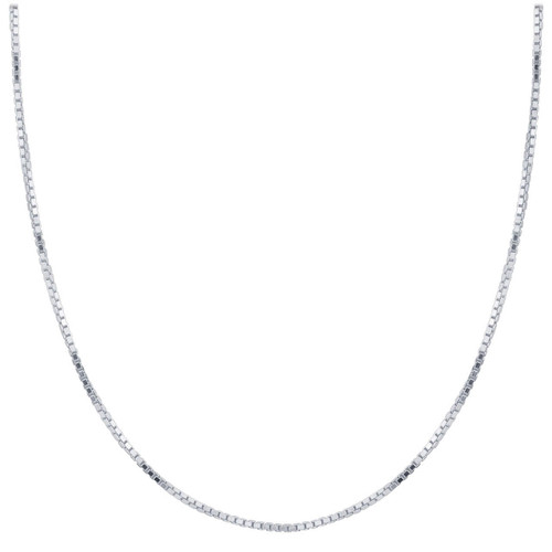 Sterling Silver 1.5mm Box Chain Necklace with Lobster Clasp