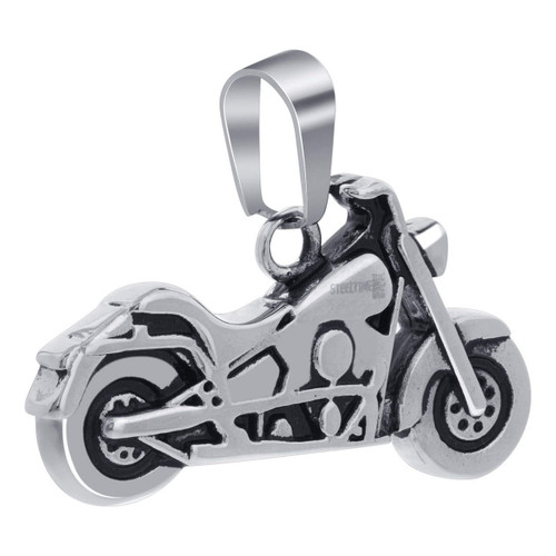 Stainless Steel American Chopper Bike Pendant with Engine Details