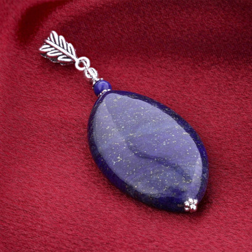 Stainless Steel Lapis Pendant