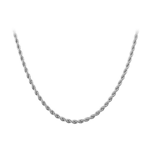 Stainless Steel 2.3mm wide Rope Chain Necklace