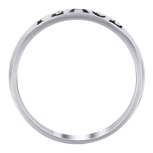 925 Sterling Silver 3mm Peace Band #LWRS237