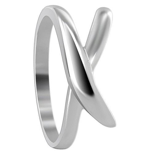 925 Silver 9mm wide Overlapping Design 2mm Ring