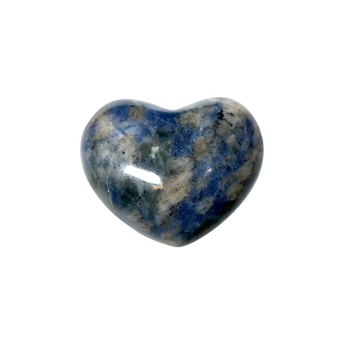 ONE Sodalite Collectible Heart Shape Palm Stone 1 x 1.5 Inch