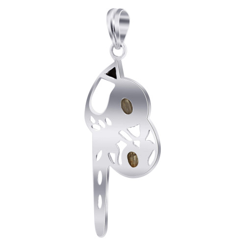 925 Sterling Silver Mother of Pearl Gemstone Pendant