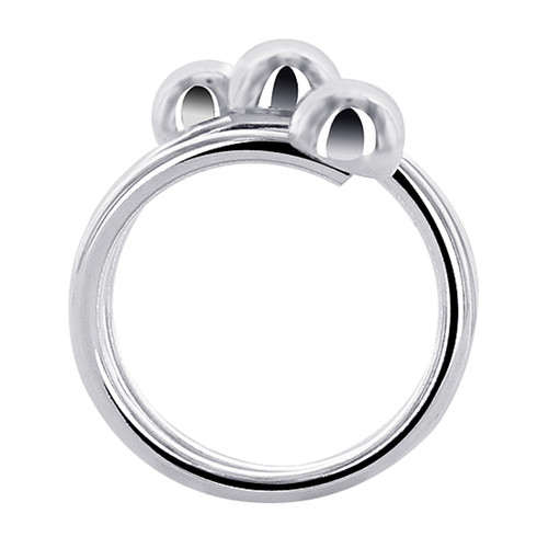 925 Silver 19mm Front Wire with 6mm Ball accented Ring