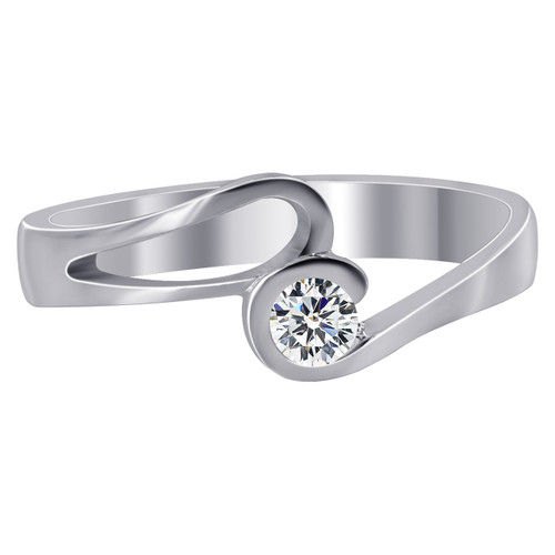 Swirl with Cubic Zirconia Ring