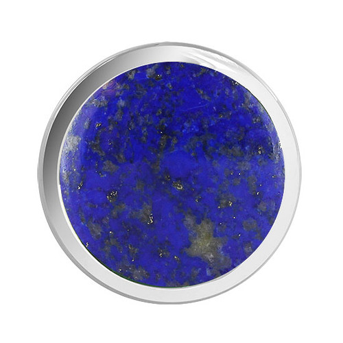 Blue Lapis Lazuli Round Gemstone Womens Ring