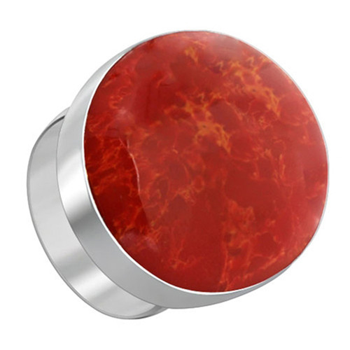 925 Sterling Silver Oval Red Coral Gemstone Women's Ring