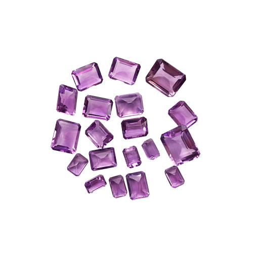 7mm X 5mm to 12mm X 10mm Cushion Cut Amethyst 47 CTW Gemstone Eye Clean Quality