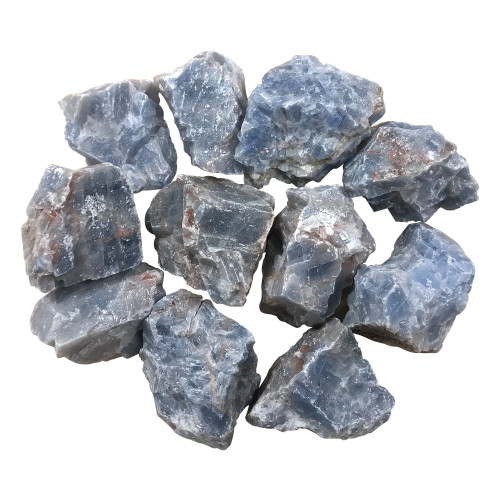 Raw Blue Natural Calcite Stone Crystals