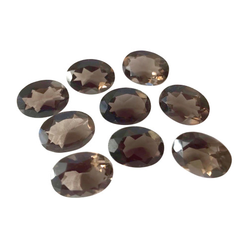14mm x 10mm Oval Cut 4.5 CTW Smokey Topaz Gemstone Eye Clean Quality