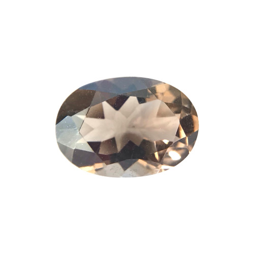Brown Smokey Topaz Faceted Oval Cut Gemstone
