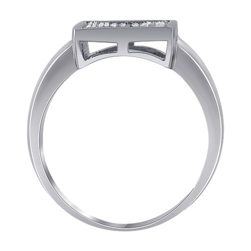 Sterling Silver Micro Pave set Cubic Zirconia Ring
