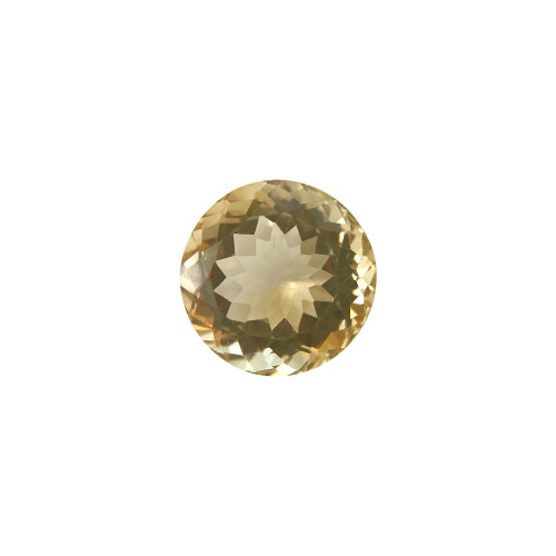 16mm Round Brilliant Cut 15.5 CTW Citrine Gemstone Eye Clean Quality
