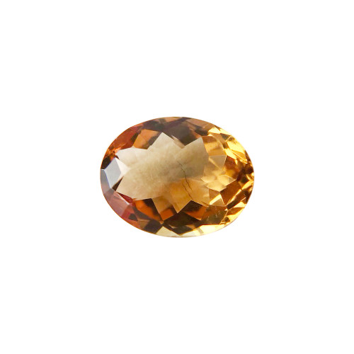 9mm X 7mm Oval Cut 1.8 CTW Citrine Gemstone Eye Clean Quality