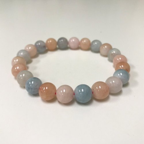 Morganite Gemstone Stretch Bracelet