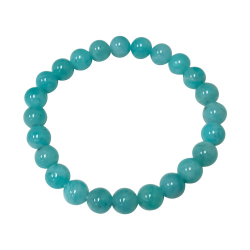 Amazonite Gemstone Stretch Bracelet Unisex One Size Fits All