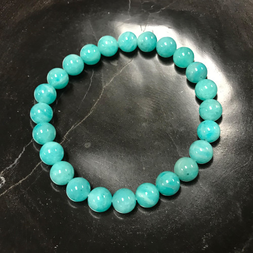 Amazonite Gemstone Stretch Bracelet Unisex