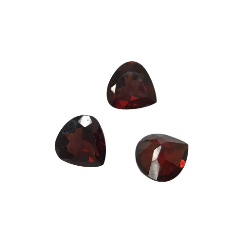 7mm x 7mm Heart Shape Faceted Cut Natural Garnet Gemstone 1 CTW