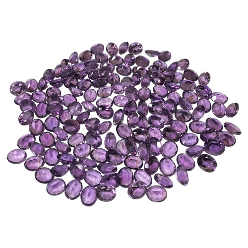 11 X 9mm Oval Natural Purple Amethyst