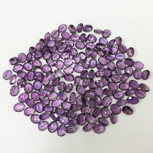 11 X 9mm Oval Natural Amethyst