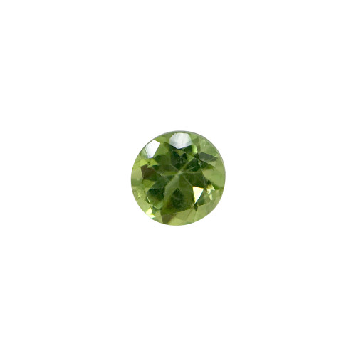 6mm Round Faceted Cut Natural Green Peridot Gemstone