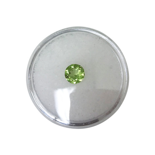 8 x 6mm Oval Faceted Green Natural Peridot
