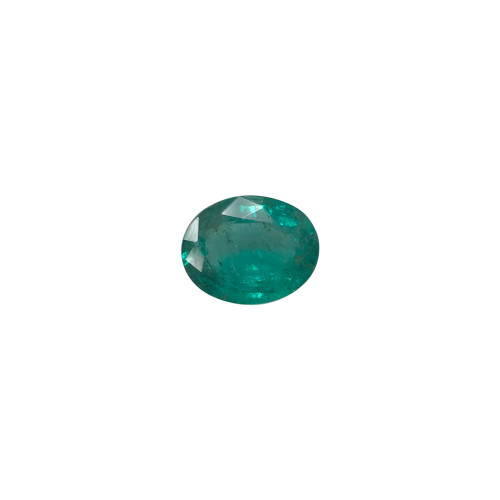 12 x 9.57mm x 5mm Oval Natural Green Emerald 3.79 CTW Gemstone