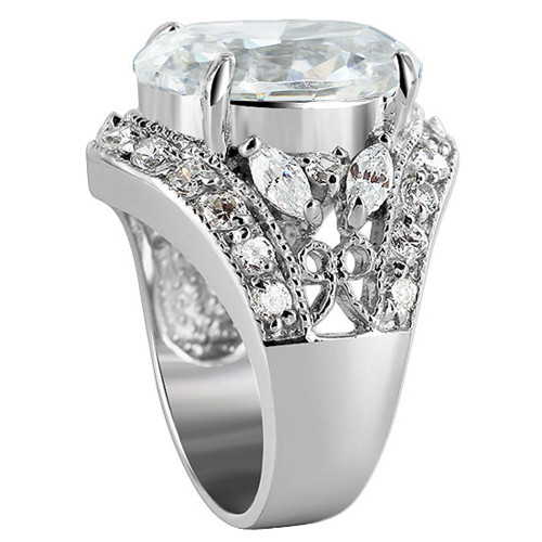 925 Silver Oval CZ Cubic Zirconia 7mm Ring