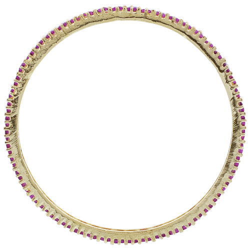 Gold Plated Ruby Glass Bollywood Indian Bangle Bracelet Set of 2