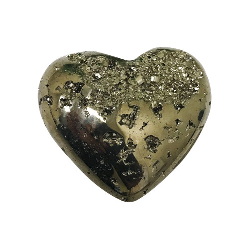 2 X 2 Inch Natural Pyrite Gemstone Heart Collectible From Peru